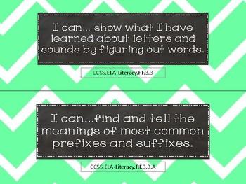 "Third Grade Reading/ ELA ""I Can"" Statements"