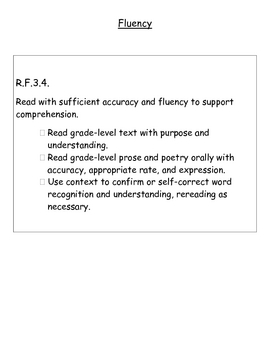 Third Grade Reading Foundational Skills Common Core Standards