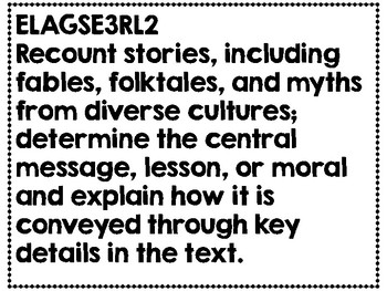 Third Grade Reading Language Arts Common Core Standards one per page