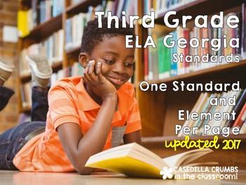 Third Grade ELA Reading Language Arts Georgia Standards of Excellence