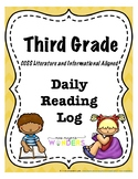 Third Grade Reading Log (CCSS Literature and Informational