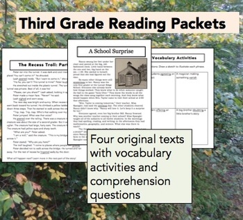 Third Grade Reading Packets