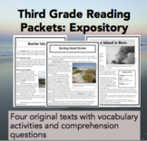 Third Grade Reading Packets: Expository
