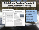 Third Grade Reading Packets: Drama, Narrative, and Poetry