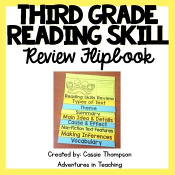 Third Grade Reading Skill Review Flipbook