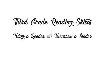 Third Grade Reading Skills - bulletin board decor