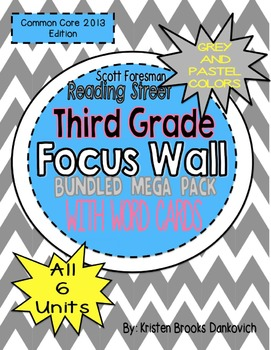 Reading Street Third Grade Focus Wall Bundled Mega Pack! (Grey and Pastel)