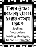 Third Grade Reading Street Newsletters Unit 4 Word Lists