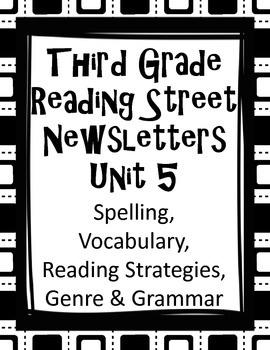 Third Grade Reading Street Newsletters Unit 5 Word Lists & much more!