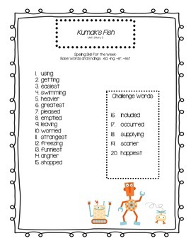 Third Grade Reading Street Spelling Lists