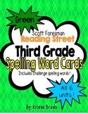 Reading Street Third Grade Spelling Word Cards (Green)