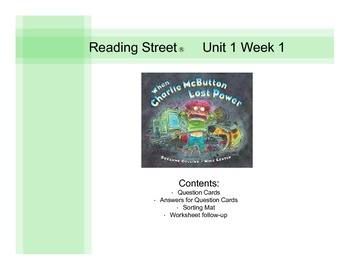 Third Grade Reading Street® Unit 1 Week 1 Questions