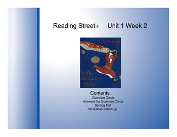 "Third Grade Reading Street® Unit 1 Week 2 Questions - ""Wha"