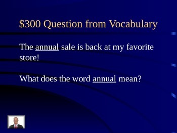 Third Grade Reading Street Unit 6 Jeopardy Review Game
