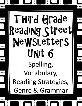 Third Grade Reading Street Unit 6 Newsletters - Word Lists & much more!