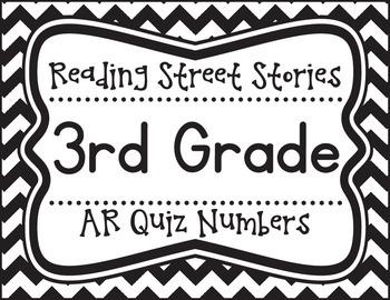 Third Grade Reading Street Unit AR Quiz Posters