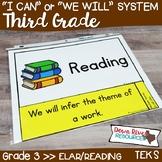 Third Grade Reading TEKS I Can Statements {ELAR Standards}