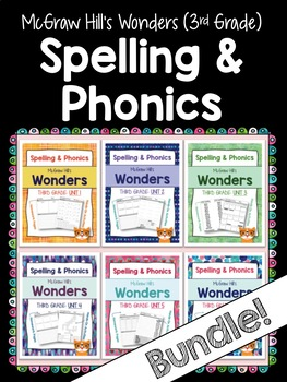 3rd Grade Wonders (6 UNITS!) Spelling and Phonics (copyright 2014 version)