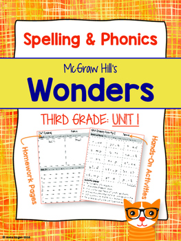 3rd Grade Reading Wonders (Unit 1) Spelling and Phonics (copyright 2014 version)