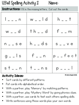 Third Grade Reading Wonders (Unit 3) Spelling and Phonics