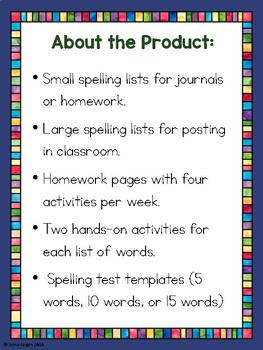 3rd Grade Reading Wonders (Unit 4) Spelling and Phonics (copyright 2014 version)
