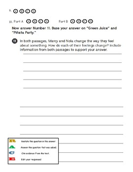 Third Grade Reading Wonders - Unit 3 Weekly Tests Answer Sheet