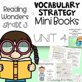 Third Grade Reading Wonders Vocabulary Strategy Mini Book {UNIT 4}
