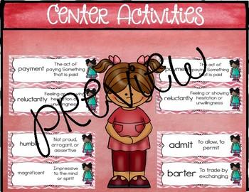 Third Grade Reading Wonders Vocabulary and Writing Process Unit 5 Week 1 BUNDLE