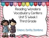 Third Grade Reading Wonders Vocabulary and Writing Process