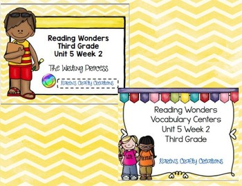 Third Grade Reading Wonders Vocabulary and Writing Process Unit 5 Week 2 BUNDLE