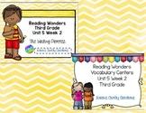 Reading Wonders Third Grade Vocabulary and Writing Process Unit 5 Week 2 BUNDLE