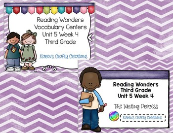 Third Grade Reading Wonders Vocabulary and Writing Process Unit 5 Week 4 BUNDLE