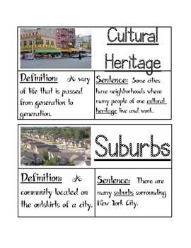 Third Grade Ready Gen Unit 2 B: What is a Community Vocabulary