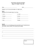 Third Grade Regular & Irregular Nouns Assessment