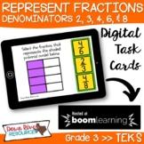 Third Grade Represent Fractions TEKS Boom Cards Set 2 | 3r