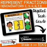 Third Grade Represent Fractions TEKS Boom Cards Set 3 | 3r