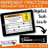 Third Grade Represent Fractions TEKS Boom Cards Set 4 | 3r