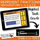 Third Grade Represent Fractions TEKS Boom Cards Set 1 | 3r