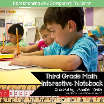 Third Grade Math Representing and Comparing Fractions Interactive Notebook