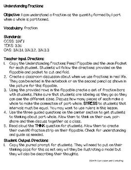 Third Grade Fractions Math Interactive Notebook