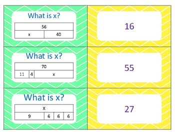 Third Grade Review Matching