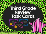 Third Grade Math Review Task Cards (Great for 4rd Grade Beginning of Year!)