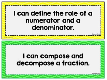 "Third Grade Math *Revised* TEKS ""I Can"" Statements- Colorful Chevron"