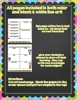 Third Grade Rocked {An End of the Year Flipbook Project}