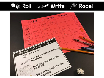 Third Grade Roll and Race Editable Sight Word Centers