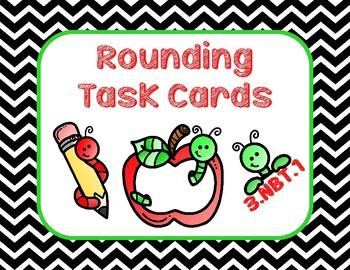 Third Grade Rounding 3.NBT.1 Task Cards