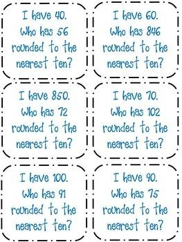 Third Grade Rounding Task Cards & Activities {3.NBT.1}