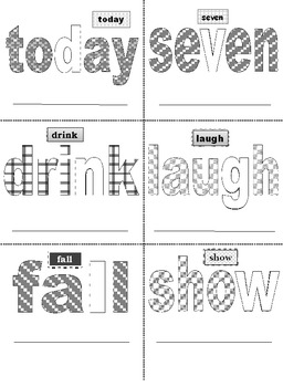 Third Grade Sight Words Activity Cards Color and Print (40 Cards)