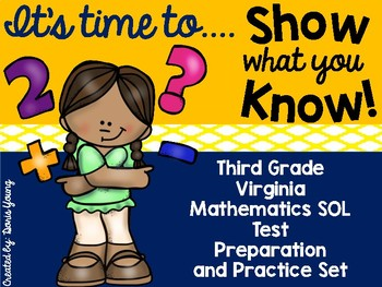 Third Grade SOL Math Test Preparation and Practice Set