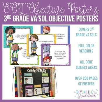 Third Grade SOL Objective Posters   Version 2